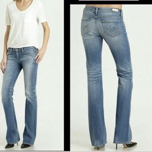 AG THE ANGEL DISTRESSED BOOTCUT JEANS